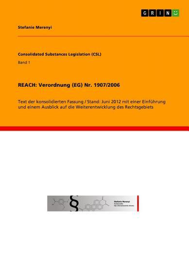REACH  Verordnung  EG  Nr  1907 2006 PDF