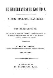 De Nederlandsche koopman: nieuw volledig handboek voor den handelsstand, Volume 3