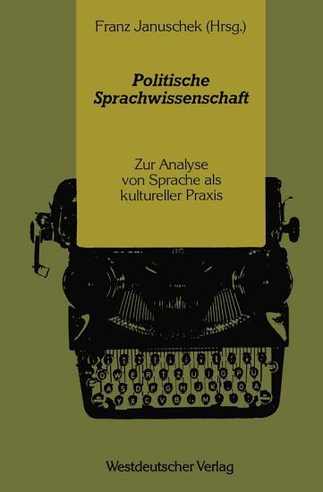 Politische Sprachwissenschaft PDF