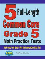 5 Full Length Common Core Grade 5 Math Practice Tests PDF