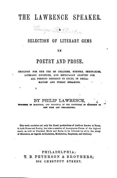 The Lawrence Speaker PDF
