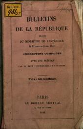 Bulletins de la republique émanés du ministére de l'interieur du 13 mars au 16 mai 1848, Collection complète avec une préface par un haut fonctionnaire en activité
