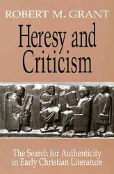 Heresy And Criticism Book PDF