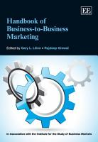 Handbook on Business to Business Marketing PDF