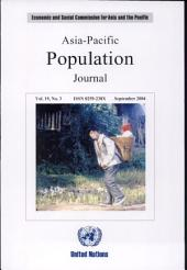 Asia-Pacific Population Journal, September 2004: Volume 19, Issue 3