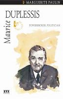 Maurice Duplessis PDF