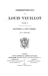 Correspondance de Louis Veuillot: Volume5