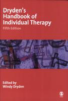 Dryden s Handbook of Individual Therapy PDF