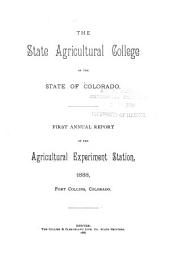 Annual Report - Colorado Agricultural Experiment Station, Colorado State University: Issue 1