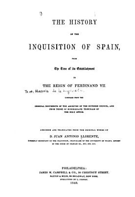 The History of the Inquisition of Spain PDF