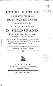 Cours d'étude pour l'instruction du prince de Parme aujourd'hui S.A.R. l'Infant D. Ferdinand ...