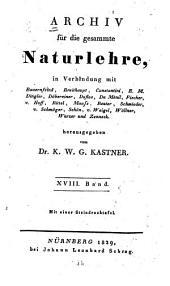 Archiv für Chemie und Meteorologie: Band 18