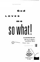 God Loves Me  So What  PDF