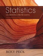 Preliminary Edition of Statistics: Learning from Data (Book Only)