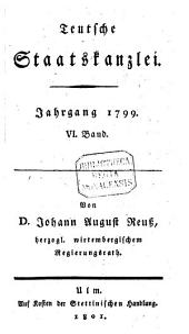Teutsche Staatskanzlei: Band 6
