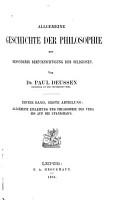 Allgemeine geschichte der Philosophie PDF
