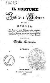Il Costime Antico e Moderno Tomo III