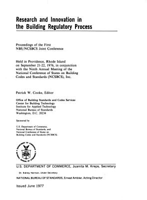 Research and Innovation in the Building Regulatory Process PDF