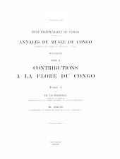 Contributions a la flore du Congo