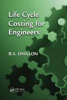 Life Cycle Costing for Engineers PDF