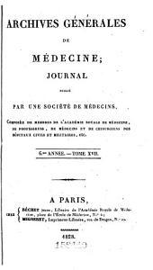 Archives générales de médecine: Volume17