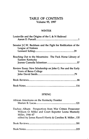 The Register of the Kentucky Historical Society PDF