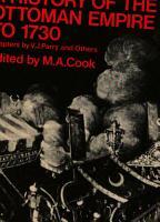 A History of the Ottoman Empire to 1730 PDF