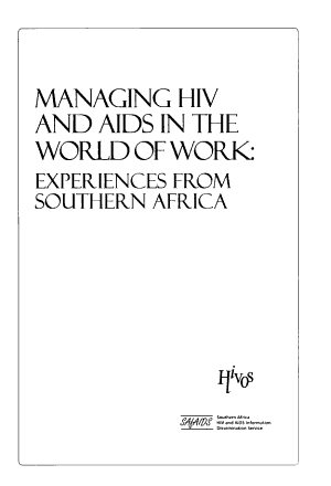 Managing HIV and AIDS in the World of Work