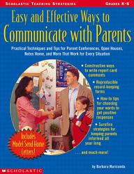 Easy And Effective Ways To Communicate With Parents Book PDF
