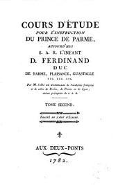 Cours d'etude pour l'instruction du Prince de Parme, aujourd'hui S.A.R. l'Infant d. Ferdinand Duc de Parme, Plaisance, Guastalle etc. etc. etc., 2