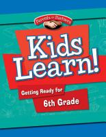 Kids Learn  Getting Ready for 6th Grade  Second Language Support    eBook PDF