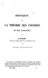 Remarques sur la théorie des courbes et des surfaces