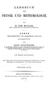 Lehrbuch der Physik und Meteorologie: Band 2