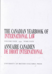 The Canadian Yearbook of International Law