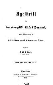 Ugeskrift for den evangeliske kirke i Danmark: Bind 3