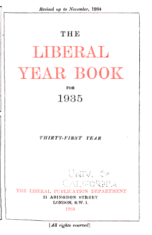 The Liberal Year Book