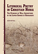 Liturgical Poetry in Christian Nubia PDF
