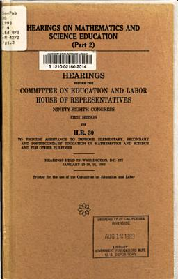 Hearings on Mathematics and Science Education PDF