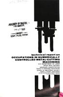 Technical Report on Occupations in Numerically Controlled Metal cutting Machining PDF