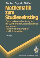 Mathematik zum Studieneinstieg: Grundwissen der Analysis für Wirtschaftswissenschaftler, Ingenieure, Naturwissenschaftler und Informatiker, Ausgabe 2