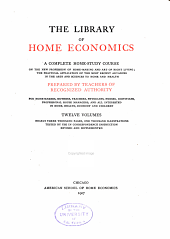 The Library of Home Economics: Home care of the sick
