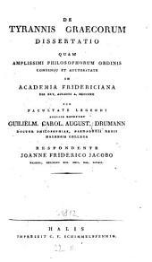 De tyrannis Graecorum dissertatio