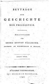 Beytrage zur Geschichte der philosophie: Volume 8