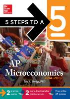 5 Steps to a 5 AP Microeconomics with CD ROM  2014 2015 Edition PDF
