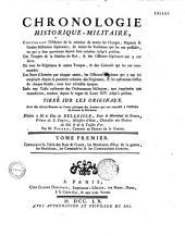 Chronologie historique-militaire