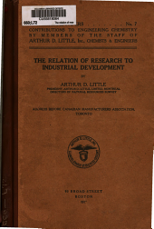 The Relation of Research to Industrial Development