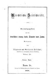 Kirchliche Zeitschrift: Volumes 3-4