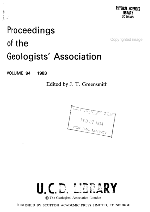 Proceedings of the Geologists  Association