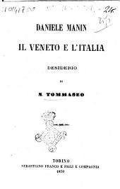 Daniele Manin il Veneto e l'Italia