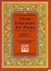 Great Literature for Piano Book 4 (Difficult)